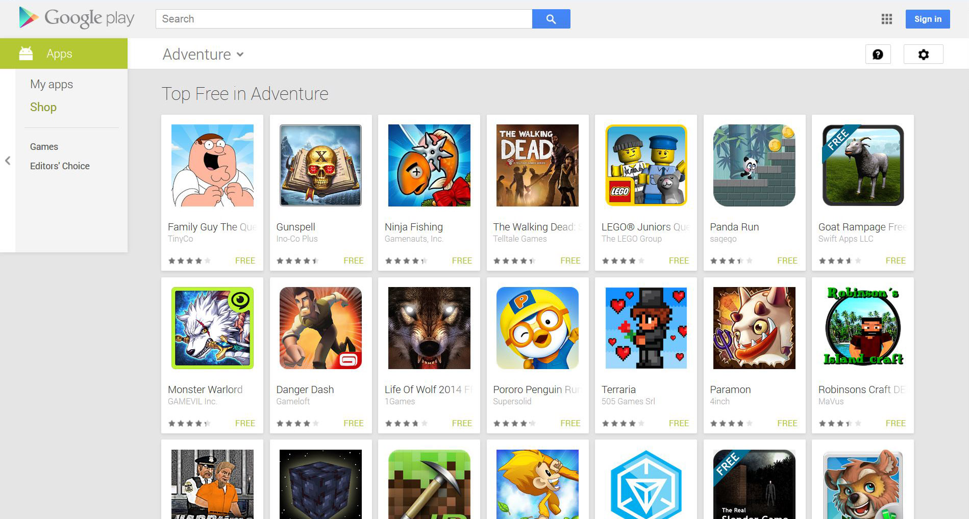 best free games on google play 2014